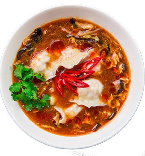 Dumpling in Hot Sour Soup