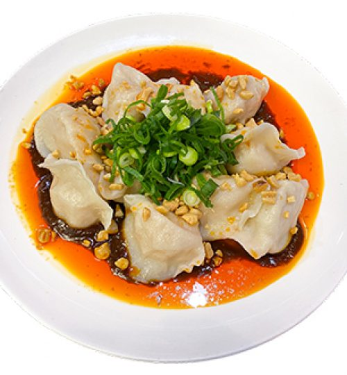 Dumplings in Spicy Sauce