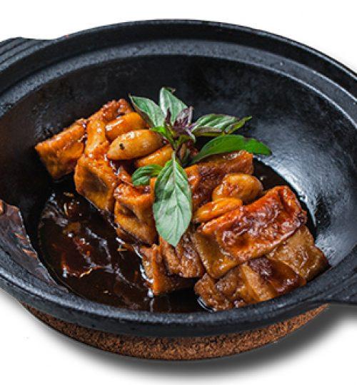 Stewed Tofu with Basil